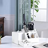 Hair Dryer Holder Love Nest PU White Snake Leather Multi-functional Jewelry Storage Tissue Box Holder Blow Dryer Holder Bathroom Washroom Accessories Storage Hair Styling Storage Unit