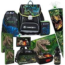 fd70e3ef52205 Dinosaurier Dino 11 Teile Set Schulranzen RANZEN Tasche TORNISTER SCHULTÜTE  85 cm Federmappe mit Sticker von