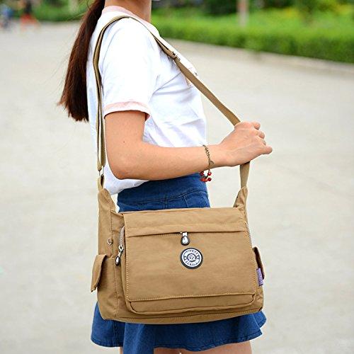Outreo Umhängetasche Damen Schultertasche Mode Taschen Designer Messenger Bag Leichter Kuriertasche Wasserdicht Reisetasche für Sporttasche Schwarz