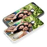 PixiPrints Personalisierte Premium Foto-Handyhülle für Huawei-Serie Selbst Gestalten mit Foto Bedrucken, Hülle:TPU-Silikon/Schwarz, Handymodell:Huawei P smart