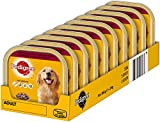 Pedigree Hundefutter Nassfutter 3 Sorten Rind, Lamm, Huhn, 10 Dosen (10 x 300 g)