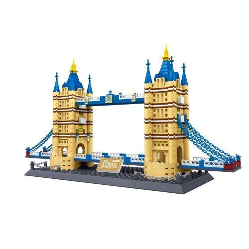 Tower Bridge of London England Building Blocks 1033 Pcs Set in Huge Gift Box ! World's Great Architecture Series by Wange -