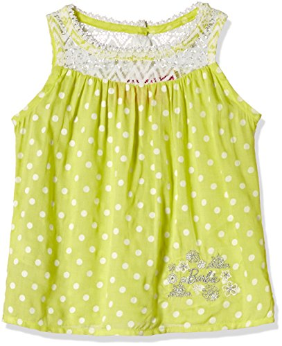 Barbie Baby Girls' Blouse (BLAFA161315002_Sunshine Yellow and Off-White_18/24)