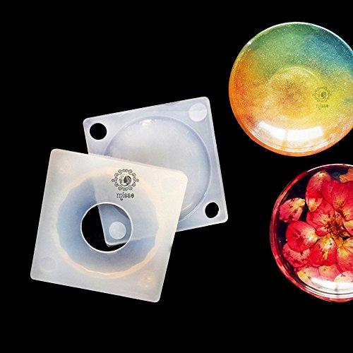 Le château de beauté 3d Petite assiette Moules en silicone DIY Cristal Résine Pochoirs Bijoux Argile polymère époxy Jetant Perles Moluld Craft faisant Outil