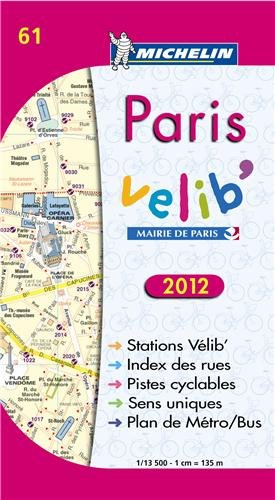 Plan de Paris Vlib 2012 par Collectif Michelin