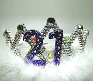 Tiara: Flashing 21st Birthday (accesorio de disfraz)