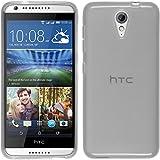 Funda de silicona para HTC Desire 620 - transparente blanco - Cover PhoneNatic Cubierta + protector de pantalla