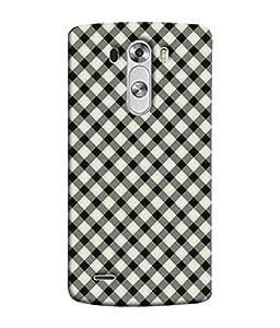 PrintVisa Designer Back Case Cover for LG G3 :: LG G3 Dual LTE :: LG G3 D855 D850 D851 D852 (Checks in small Pattern design)