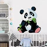 PPS. Imaging Adesivo da parete, motivo: panda Roditrici, nursery, orso, illustrazione, adesivo da parete, adesivi da parete, adesivi da parete, adesivi murali, dimensioni: 108x 95