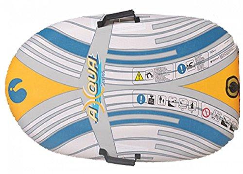 Dreams4Home Board 'Surf' - Stand Up Board, Paddeln, Board, Strand Board, Outdoor, Freizeit, Meer, Schnee, Strand, Größe: 120 x 63 cm, in blau,orange und grau