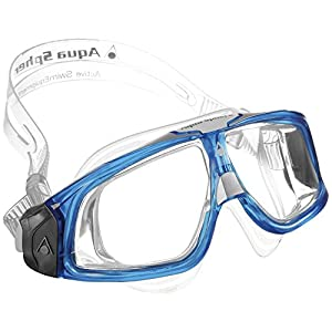 Aqua Sphere Erwachsene Taucherbrille / Tauchmaske / Plaukimo Akiniai Seal 2.0 (One Size) (Durchsichtig/Blau)