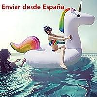 Flotador Unicornio, Los Adultos y los Niños Pueden Jugar en la Playa y Adecuado Para