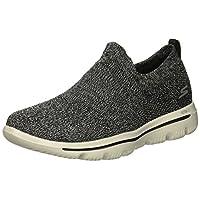 Skechers Women's GO Walk Evolution Ultra 15725 Sneaker, Black/Gray, 8 M US