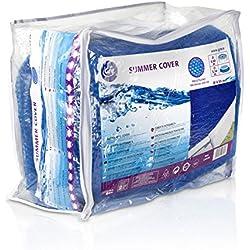 Gre CV450 - Bâche d'été pour piscine ronde de 450 à 460 cm de diamètre, couleur bleue