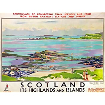 TU19 Vintage Tay Bridge Scotland Travel Railway Framed Poster Print A3//A4
