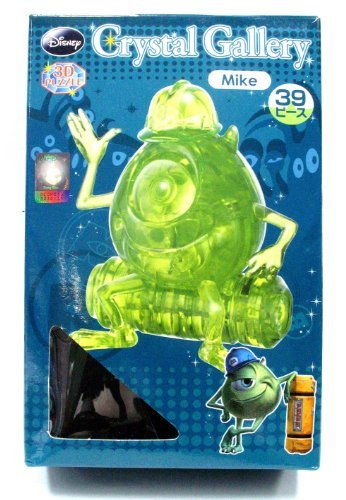 Disney CRYSTAL GALLERY PETIT FRIENDS Monster Inc Mike 3D Puzzle (Green)