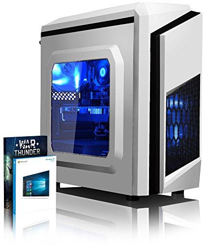 VIBOX Killstreak GL560-286 Gaming PC - 4,1GHz Intel i5 Quad Core CPU, Geforce GTX 1060, leistungsfähig, Desktop Gamer Computer mit Spielgutschein, Windows 10, Blau Innenbeleuchtung, lebenslange Garantie* (3,5GHz (4,1GHz Turbo) Superschneller Intel i5 7600 Kabylake Quad 4-Core Prozessor CPU, Nvidia GeForce GTX 1060 3GB Grafikkarte, 16GB DDR4 2133MHz RAM, 1TB (1000GB) Seagate SSHD Solid State Hybrid SSD-Festplatte, 85+ Netzteil, CIT F3 Weiß Gaming Geh§use, Intel B250 LGA1151 Mainboard)
