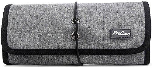 ProCase Travel Gear Organizer Elektronik Zubehör Tasche, Kleine Gadget Tragetasche Aufbewahrungstasche Tasche für Ladegerät USB Kabel SD Speicherkarten Kopfhörer Flash Hard Drive -Grau