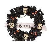 Halloweendeko Kranz Sargkranz mit Totenköpfen