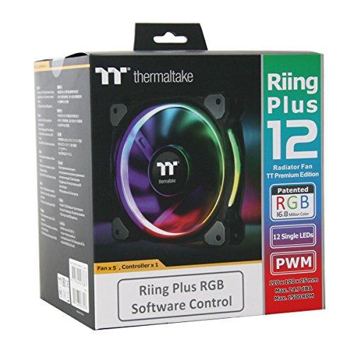 Thermaltake CL-F054-PL12SW-A 120mm RGB LED Riing Plus