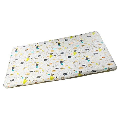Preisvergleich Produktbild Little World Kinderbett Spannlaken 100% Bio Baumwolle tragbar Displayschutzfolie für Standard Kinderbett und Kleinkind Matratzen mit Elastic, 132,1x 71,1cm