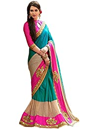Zofey Designer Sarees Women's Art Silk Embroidered Saree With Blouse Piece(DharmiRama-SAREE01_Light Blue_COLOUR)