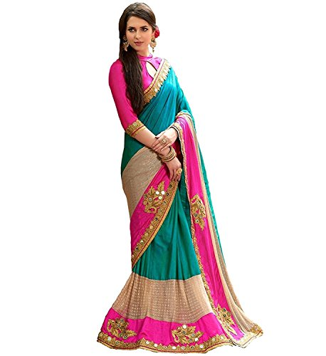 Zofey Designer Sarees Women\'s Art Silk Embroidered Saree With Blouse Piece(DharmiRama-SAREE01_Light Blue_COLOUR)