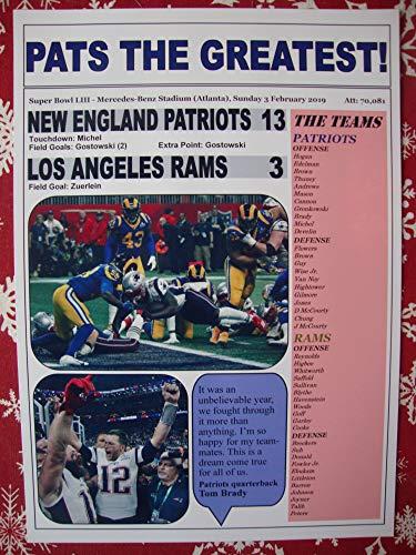 Sports Prints UK New England Patriots 13 Los Angeles Rams 3 - Super Bowl LIII - 2019 - Souvenirdruck