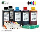 Fill In Leerpatronen für Canon PGI-550, CLI-551 mit Chip und 500ml Nachfülltinte für Canon Pixma MX 925, MX 725, MG 6350, MG 5450, IP 7250