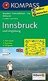 Innsbruck und Umgebung: Wanderkarte mit KOMPASS-Lexikon, Radwegen, alpinen Skirouten und Panorama. GPS-genau. 1:35000 (KOMPASS-Wanderkarten, Band 36)