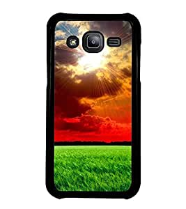 Fuson Premium 2D Back Case Cover Sunshine With yellow Background Degined For Samsung Galaxy J2::Samsung Galaxy J2 J200F
