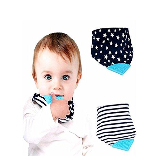 Da.Wa Baby Dreieckstuch Lätzchen Spucktuch Baumwolle Mit Zähne beißen Multifunctional,(Zufällige Farbe,set of 1)