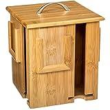 2 en 1: Distribuidor y Mostrador de bolsas de té en un soporte rotativo - De Bambú