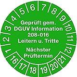 LEMAX® Prüfplakette gepr.gem. DGUV Information 208-016 Leitern & Tritte Ø30mm, 100 Stk.