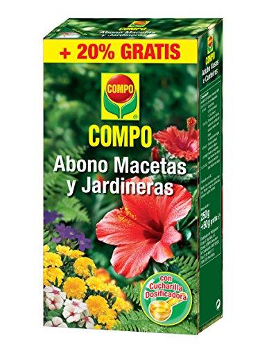 Compo Abono Macetas Y Jardineras 250G + 50G Gratis, 15.5x10.7x3.4 cm, 8411056572045