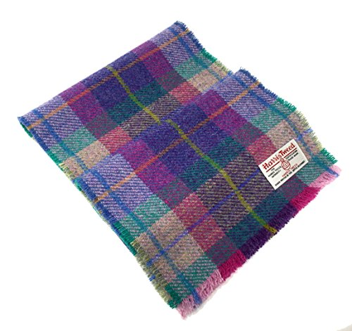 Harris Tweed Rosa Tartan Wolle Schal