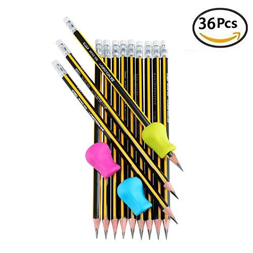 fooniir-36-pezzi-matite-in-grafite-hb-3-pezzi-impugnature-per-matita-matite-da-disegno-e-schizzi-car