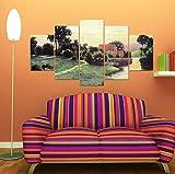 Fünf aufeinanderfolgende Gemälde, ländlichen Stil, rahmenlose Malerei, Ölgemälde, dekorative Malerei, Malerei -40x60cmx2_40x80cmx2_40x100cm