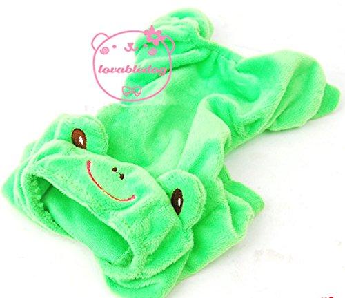 Pet Katze Hund Frosch Velours Schlafanzüge Trainingsanzug Kostüm -