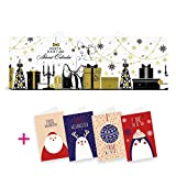 itenga Set Adventskalender Körperpflege, Nagelpfelge, Handpflege & Fußpflege Beauty+ 4 Weihnachtskarten