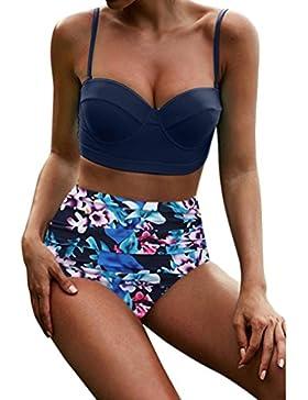 Longra 2024 mujeres de cintura alta Bikinis traje de baño traje de baño femenino Beachewear Bikini retro personalizar...
