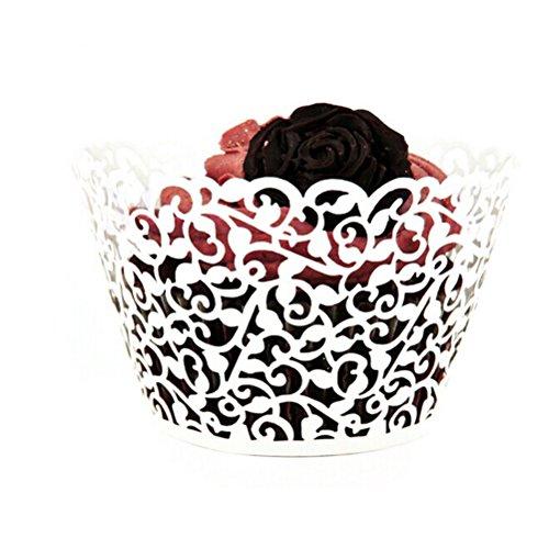 ROSENICE Cupcake Wrappers 50 Stück Muffinförmchen Hochzeit Muffins Backförmchen für Weihnachten Hochzeit (Cupcakes Halloween Dekorationen)