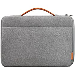 Inateck Housse 13-13,3 Pouces Compatible avec MacBook Air 13/MacBook Pro 13 2012-2018 2019/Surface Pro X/7/6/5/4/3, Surface Laptop 3, Sacoche/Pochette Ordinateur 13 Pouces - Gris