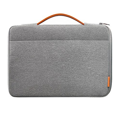 Inateck 13-13,3 Pulgadas Sleeve Funda para portátiles para MacBook Pro Retina, MacBook Air, 13' MacBook Pro 2016/2017/2018, Surface Pro1/2/3/4/5/6, Surface Pro 2017,Surface Latop 2017. Gris Oscuro