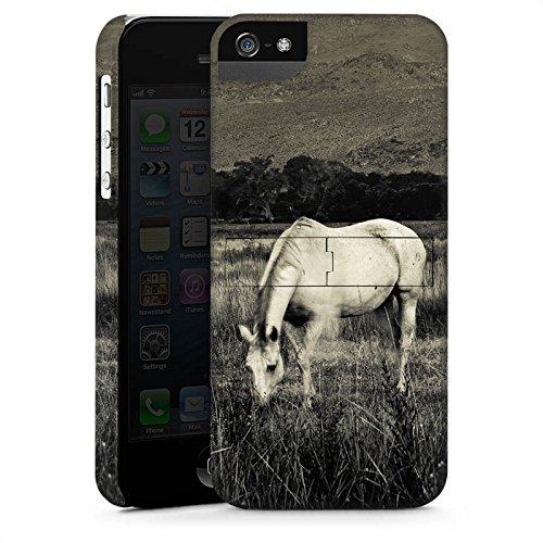 Apple iPhone X Silikon Hülle Case Schutzhülle Pferd Stute Hengst Premium Case StandUp