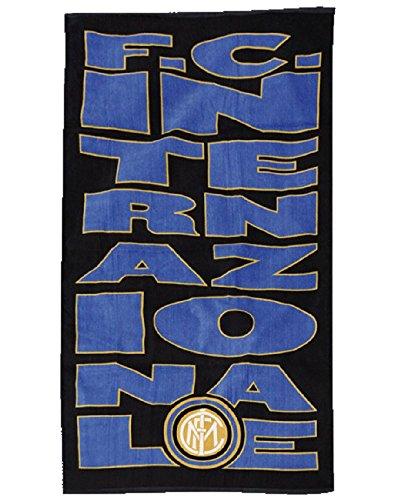 Telo mare 100% cotone 75x150 cm. prodotti ufficiali color blu inter - telo mare (75 x 150 cm)