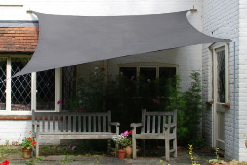 The Kookaburra Waterproof Sun Sail Shade Canopy 4m x 3m covers a good area and provides great protection from harmful UV and the rain. A great piece of kit made from high-density fabric, this will last a long time as far as it's well-maintained. Maintenance is just cleaning inside a washing machine. This shade can be set up anywhere in the garden and that's a major benefit. However, some fittings must be bought separately, therefore, spiking the overall price of the shade sail. In conclusion, a good choice for hanging out in summer months.