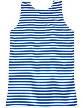 Rusas sin mangas de mujer sin mangas Telnyashka chaleco para botella de agua - la Armada británica Blue rayas de