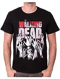 Camiseta de manga corta Hands Reaching de la serie The Walking Dead (Negro)