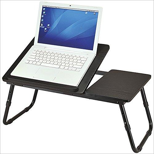 Relaxdays-Laptoptisch-Lapdesk-Betttisch-Betttablett-Notebook-Tisch-Beistelltisch-Laptop-BTH-60-cm-x-35-cm-x-24-cm-Holz-schwarz-mit-Leseklappe-hhenverstellbar-klappbar